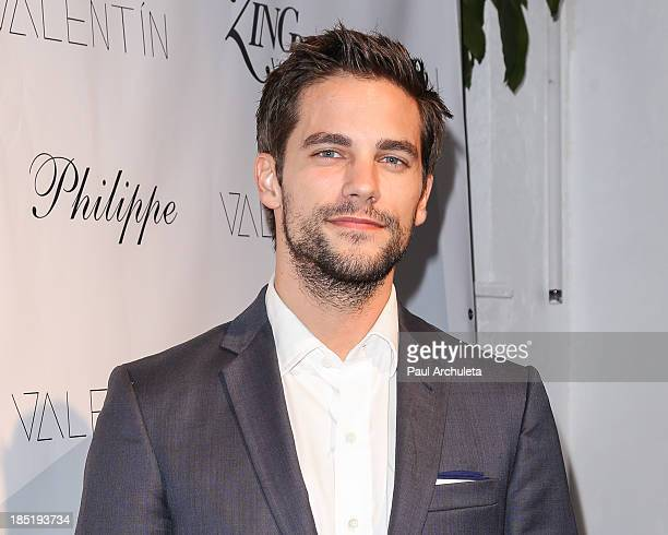 Actor Brant Daugherty attends the Valentin fashion line launch party at Philippe Chow on October 17 2013 in Los Angeles California