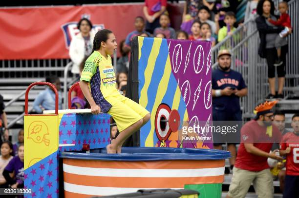 Actor Breanna Yde at the taping of Nickelodeon's Superstar Slime Showdown at Super Bowl in Houston Texas premiering Sunday Feb 5 at 12pm