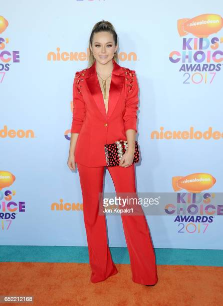 Actor Brec Bassinger at Nickelodeon's 2017 Kids' Choice Awards at USC Galen Center on March 11 2017 in Los Angeles California