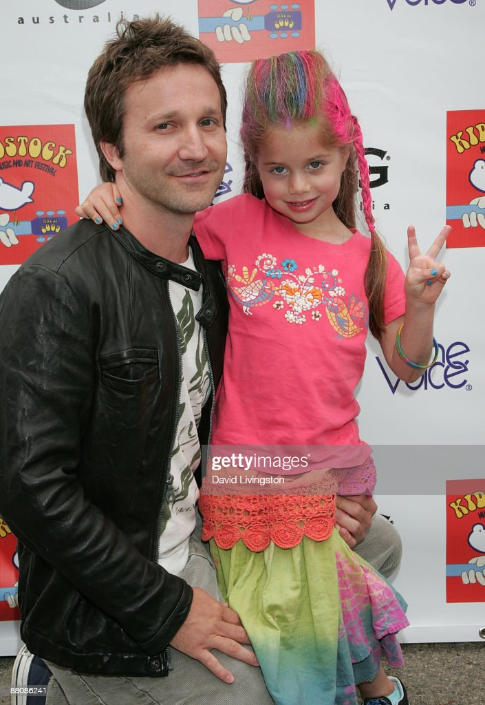 Actor Breckin Meyer and daughter Caitlin attend the 3rd annual Kidstock Music and Art Festival at Greystone Mansion on May 31, 2009 in Beverly Hills, California.