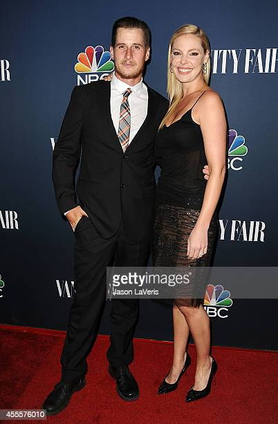 Actor Brendan Fehr and actress Katherine Heigl attend the NBC Vanity Fair 2014 2015 TV season event at HYDE Sunset Kitchen Cocktails on September 16...