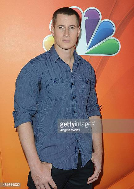 Actor Brendan Fehr arrives at NBCUniversal's 2015 Winter TCA Tour Day 2 at The Langham Huntington Hotel and Spa on January 16 2015 in Pasadena...