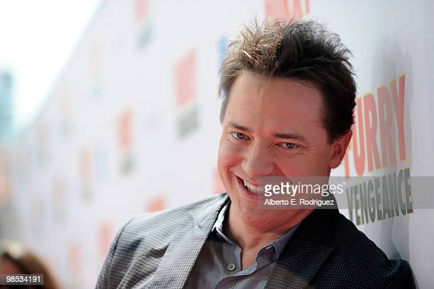 Actor Brendan Fraser arrives at the premiere of Summit Entertainment and Participant Media's 'Furry Vengeance' at the Bruin Theatre on April 18 2010...