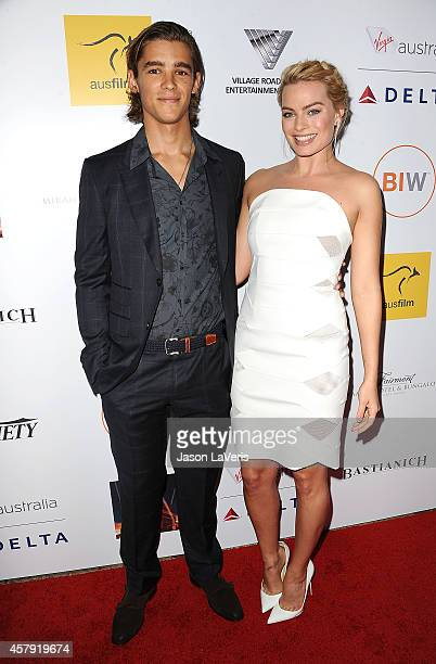 Actor Brenton Thwaites and actress Margot Robbie attend the 3rd annual Australians in Film Awards benefit gala at Fairmont Miramar Hotel on October...
