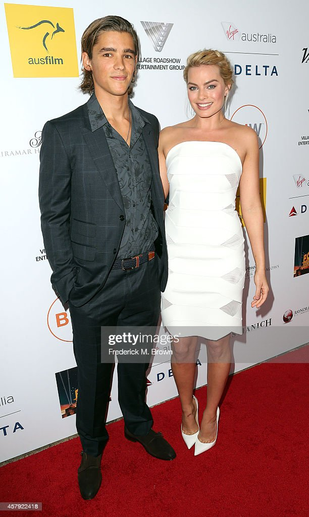 Actor Brenton Thwaites and actress Margot Robbie attend the 3rd Annual Australians in Film Awards Benefit Gala at the Fairmont Miramar Hotel on...
