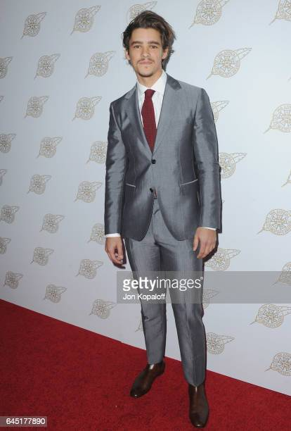 Actor Brenton Thwaites arrives at the 54th Annual International Cinematographers Guild Publicists Awards at The Beverly Hilton Hotel on February 24...