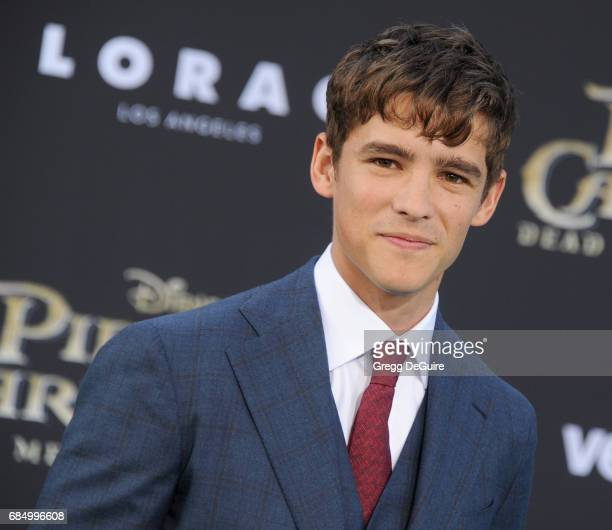 Actor Brenton Thwaites arrives at the premiere of Disney's 'Pirates Of The Caribbean Dead Men Tell No Tales' at Dolby Theatre on May 18 2017 in...