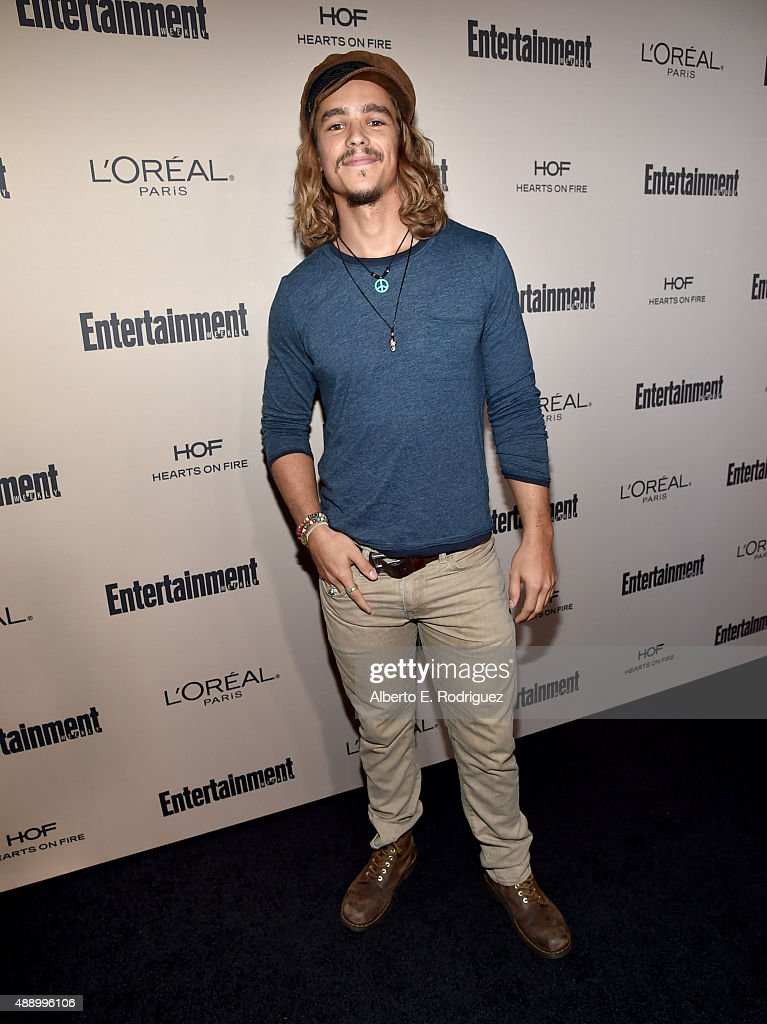 Actor Brenton Thwaites attends the 2015 Entertainment Weekly PreEmmy Party at Fig Olive Melrose Place on September 18 2015 in West Hollywood...