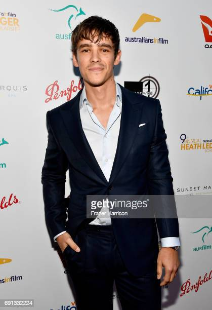 Actor Brenton Thwaites attends the 9th Annual Australians In Film Heath Ledger Scholarship Dinner at Sunset Marquis Hotel on June 1 2017 in West...