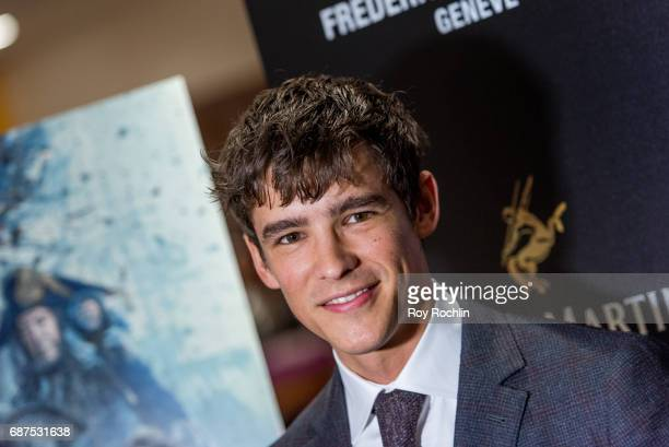 Actor Brenton Thwaites attends The Cinema Society host a screening of 'Pirates Of The Caribbean Dead Men Tell No Tales' at Crosby Street Hotel on May...