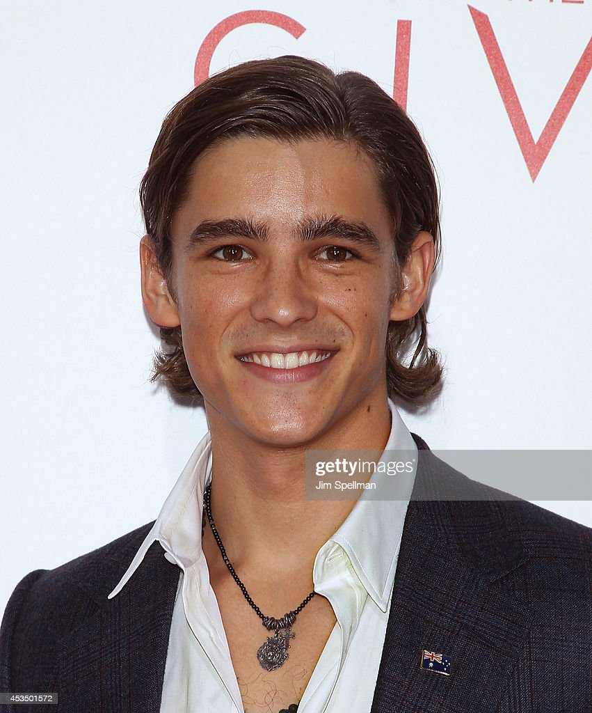 Actor Brenton Thwaites attends 'The Giver' premiere at Ziegfeld Theater on August 11 2014 in New York City