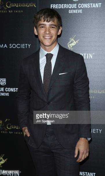 Actor Brenton Thwaites attends the screening of 'Pirates Of The Caribbean Dead Men Tell No Tales' hosted by The Cinema Society at Crosby Street Hotel...