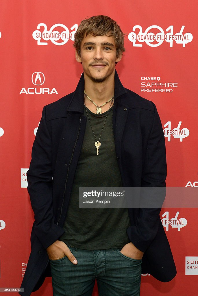Actor Brenton Thwaites attends 'The Signal' Premiere during the 2014 Sundance Film Festival at Library Center Theater on January 20 2014 in Park City...