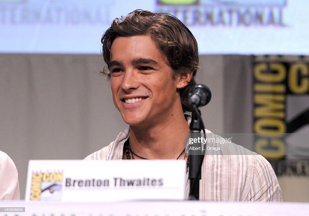 Actor Brenton Thwaites attends the 'The Giver' presentation during ComicCon International 2014 at the San Diego Convention Center on July 24 2014 in...