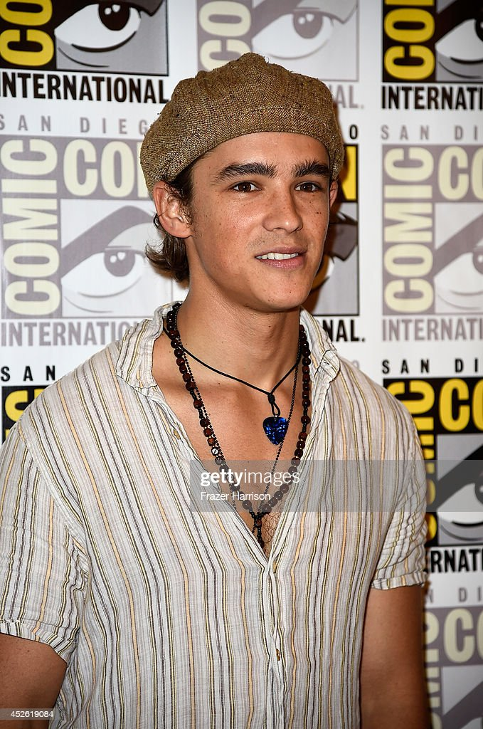 Actor Brenton Thwaites attends the 'The Giver' Press Line during ComicCon International 2014 at Hilton Bayfront on July 24 2014 in San Diego...