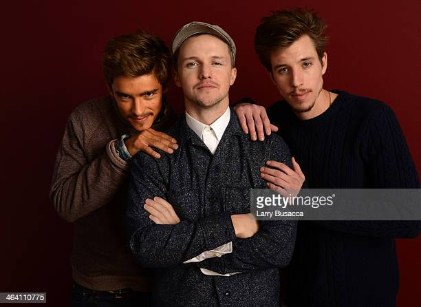 Actor Brenton Thwaites filmmaker William Eubank and actor Beau Knapp pose for a portrait during the 2014 Sundance Film Festival at the WireImage...