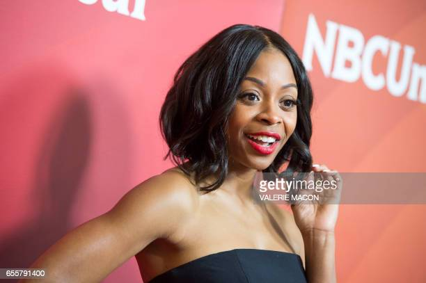 Actor Bresha Webb of 'Marlon' arrives at the NBC Universal Summer Press Day at the Beverly Hilton on March 20 Beverly Hills California / AFP PHOTO /...