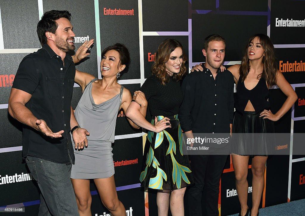 Actor Brett Dalton actresses MingNa Wen and Elizabeth Henstridge actor Iain De Caestecker and actress Chloe Bennet from Marvel's 'Agents of SHIELD'...