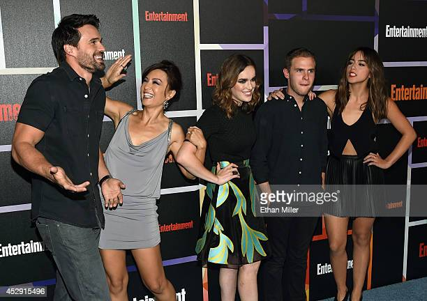 Actor Brett Dalton actresses MingNa Wen and Elizabeth Henstridge actor Iain De Caestecker and actress Chloe Bennet from Marvel's 'Agents of SHIELD'...