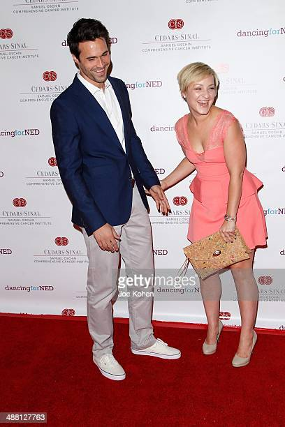Actor Brett Dalton and designer Melissa Trn attend the 2nd Annual Dancing For NED at Unici Casa Gallery on May 3 2014 in Culver City California