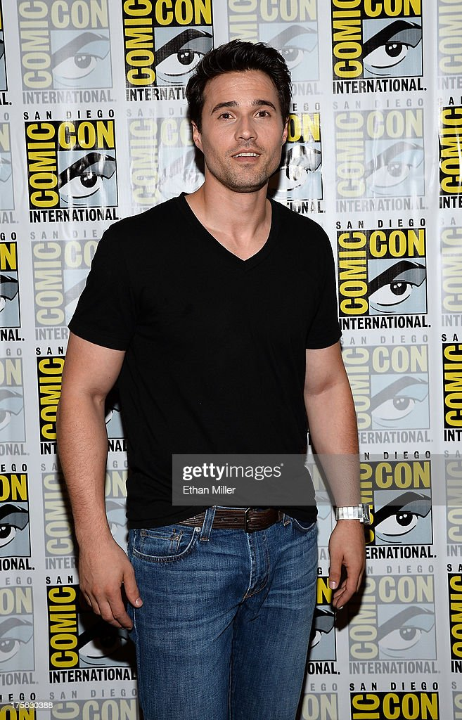 Actor Brett Dalton attends Marvel's 'Agents of S.H.I.E.L.D.' press line at the Hilton San Diego Bayfront Hotel on July 19, 2013 in San Diego, California.