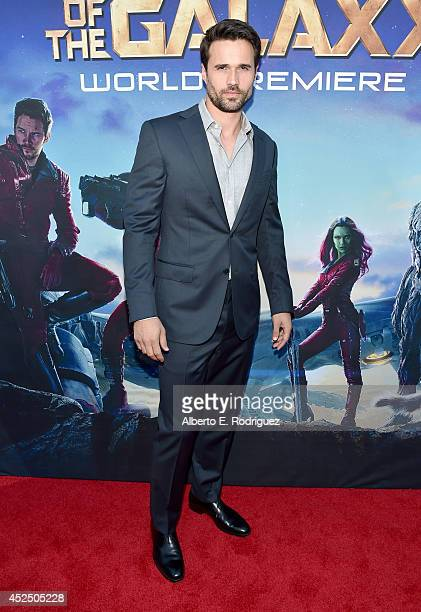 """Actor Brett Dalton attends The World Premiere of Marvel's epic space adventure """"Guardians of the Galaxy"""" directed by James Gunn and presented in..."""