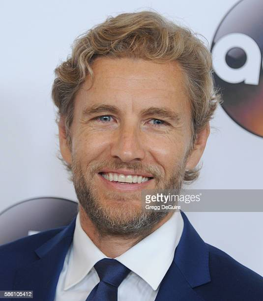 Actor Brett Tucker arrives at the Disney ABC Television Group TCA Summer Press Tour at the Beverly Hilton Hotel on August 4 2016 in Beverly Hills...