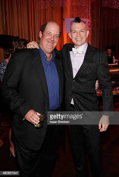 Actor Brian Baumgartner and No Doubt drummer Adrian Young attend the 13th annual Michael Jordan Celebrity Invitational gala at the ARIA Resort Casino...
