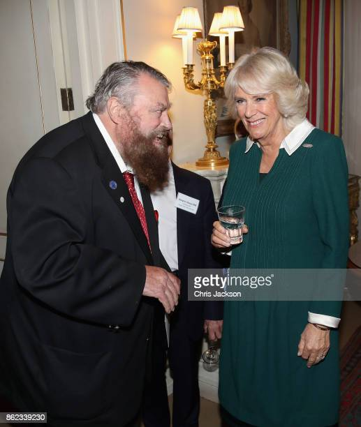 Actor Brian Blessed and Camilla Duchess of Cornwalll attend a reception to celebrate the launch of the 'Our Amazing People' campaign at Clarence...