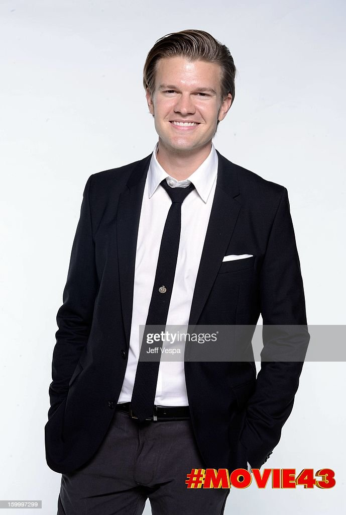 Actor Brian Flaccus poses for a portrait during Relativity Media's 'Movie 43' Los Angeles premiere at TCL Chinese Theatre on January 23, 2013 in Hollywood, California.