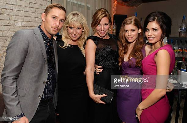 Actor Brian Geraghty Actresses Ari Gaynor Lynn Collins Kate Mara and Jenna DewanTatum attend the 'Ten Year' dinner hosted by GREY GOOSE Vodka at Soho...