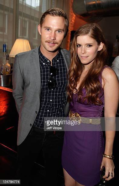 Actor Brian Geraghty and Actress Kate Mara attend the 'Ten Year' dinner hosted by GREY GOOSE Vodka at Soho House Pop Up Club during the 2011 Toronto...