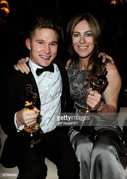 WEST HOLLYWOOD CA MARCH 07 *EXCLUSIVE* Actor Brian Geraghty and director Kathryn Bigelow attend the 2010 Vanity Fair Oscar Party hosted by Graydon...