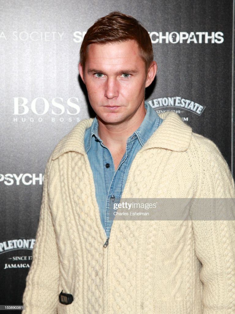 Actor Brian Geraghty attends The Cinema Society with Hugo Boss and Appleton Estate screening of 'Seven Psychopaths' at Clearview Chelsea Cinemas on October 10, 2012 in New York City.