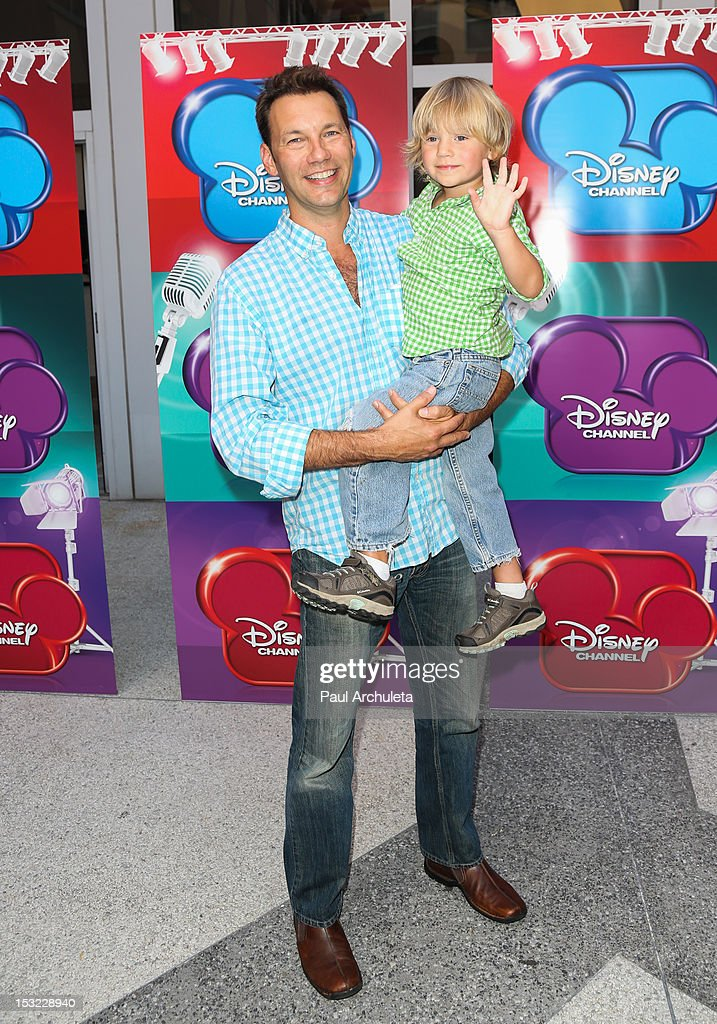 Actor Brian Palermo (L) and his son Dash Palermo attend the Disney Channel's 'Girl Vs. Monster' special screening at Walt Disney Studios on October 1, 2012 in Burbank, California.