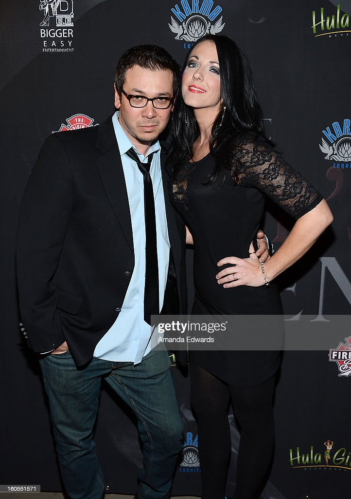 Actor Brian Ronalds (L) and actress Stephanie Ronalds arrive at the Los Angeles Premiere of 'The Devil's Dozen' at Mann's Chinese 6 Theatres on February 1, 2013 in Hollywood, California.