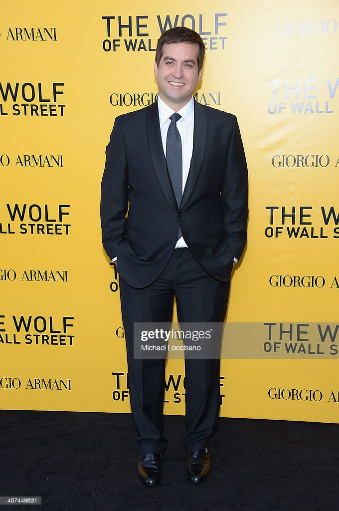 Actor Brian Sacca attends the 'The Wolf Of Wall Street' premiere at the Ziegfeld Theatre on December 17, 2013 in New York City.