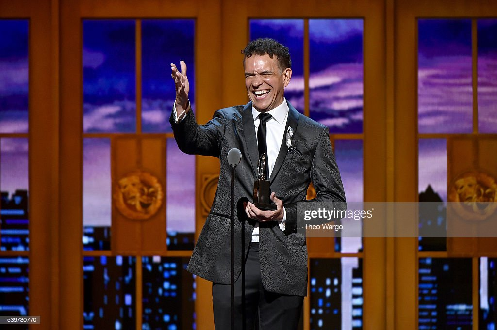Actor Brian Stokes Mitchell speaks onstage to accept Isabelle Stevenson Tony Award during the 70th Annual Tony Awards at The Beacon Theatre on June...
