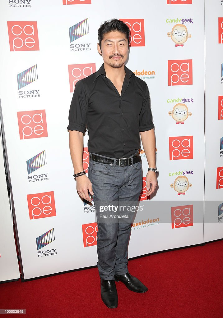 Actor <a gi-track='captionPersonalityLinkClicked' href=/galleries/search?phrase=Brian+Tee&family=editorial&specificpeople=593958 ng-click='$event.stopPropagation()'>Brian Tee</a> attends the 2012 CAPE Holiday Fundraiser 'I Am...All In' at the W Hollywood on November 17, 2012 in Hollywood, California.