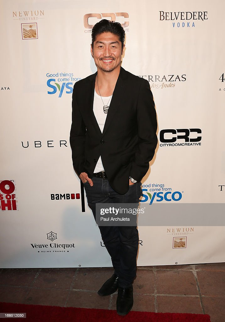 Actor <a gi-track='captionPersonalityLinkClicked' href=/galleries/search?phrase=Brian+Tee&family=editorial&specificpeople=593958 ng-click='$event.stopPropagation()'>Brian Tee</a> attends the grand pening of Bamboo Izakaya Restaurant at the Bamboo Izakaya Restaurant on May 9, 2013 in Santa Monica, California.