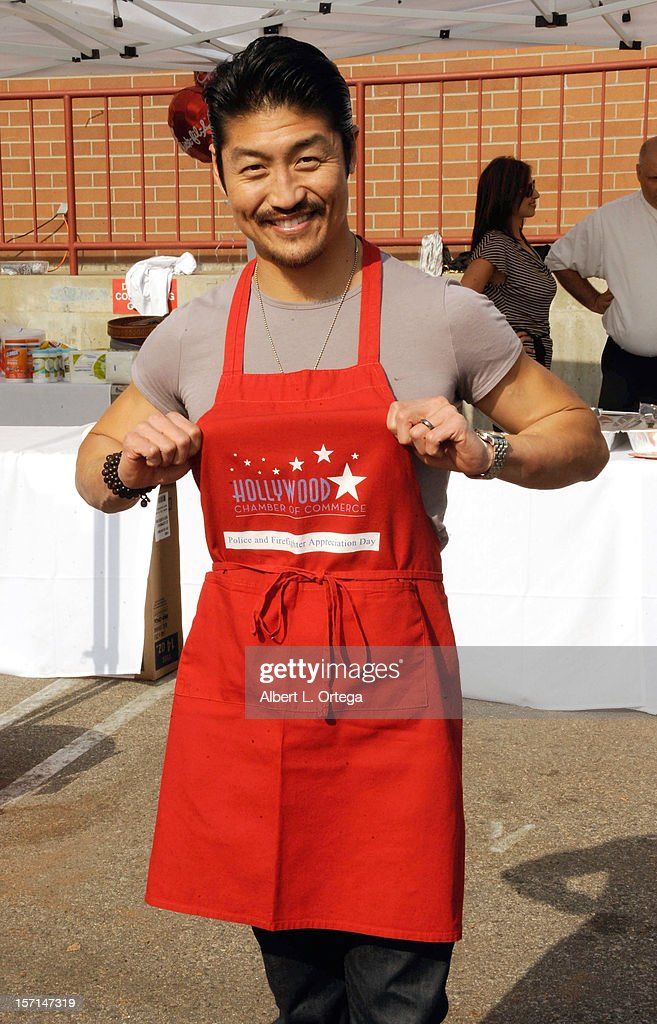 Actor Brian Tee participates in the Hollywood Chamber of Commerce's 18th annual Police and Firefighters Appreciation Day held at the Hollywood LAPD Station on November 28, 2012 in Hollywood, California.