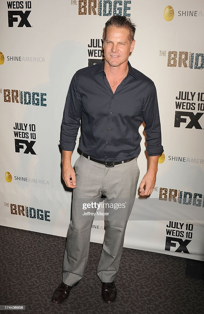 Actor <a gi-track='captionPersonalityLinkClicked' href=/galleries/search?phrase=Brian+Van+Holt&family=editorial&specificpeople=1667272 ng-click='$event.stopPropagation()'>Brian Van Holt</a> arrives at the Series Premiere Of FX's 'The Bridge' at DGA Theater on July 8, 2013 in Los Angeles, California.