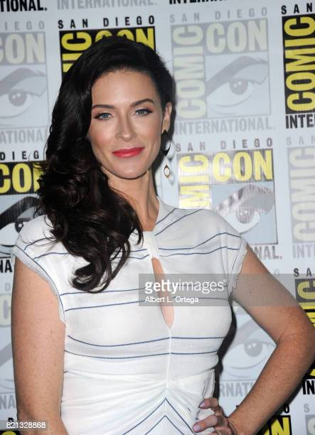 Actor Bridget Regan at TNT's 'The Last Ship' with Eric Dane panel and exclusive sneak peek for season 4 during ComicCon International 2017 at San...