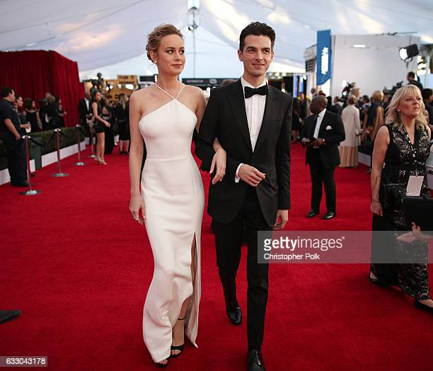Actor Brie Larson and Alex Greenwald attend The 23rd Annual Screen Actors Guild Awards at The Shrine Auditorium on January 29 2017 in Los Angeles...