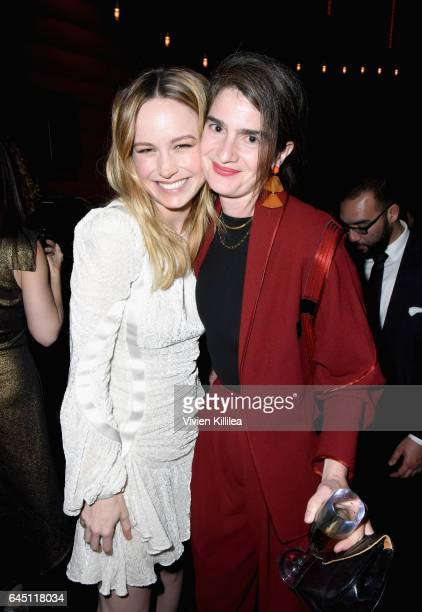 Actor Brie Larson and Gaby Hoffmann attend the tenth annual Women in Film PreOscar Cocktail Party presented by Max Mara and BMW at Nightingale Plaza...