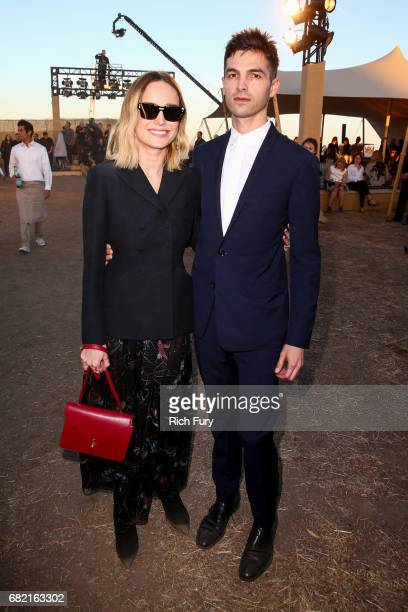 Actor Brie Larson and musician Alex Greenwald attend the Christian Dior Cruise 2018 Runway Show at the Upper Las Virgenes Canyon Open Space Preserve...