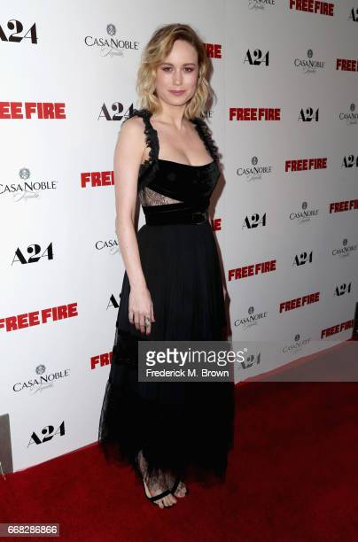 Actor Brie Larson attends the premiere of A24's 'Free Fire' at ArcLight Hollywood on April 13 2017 in Hollywood California
