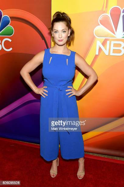 Actor Briga Heelan at the NBCUniversal Summer TCA Press Tour at The Beverly Hilton Hotel on August 3 2017 in Beverly Hills California