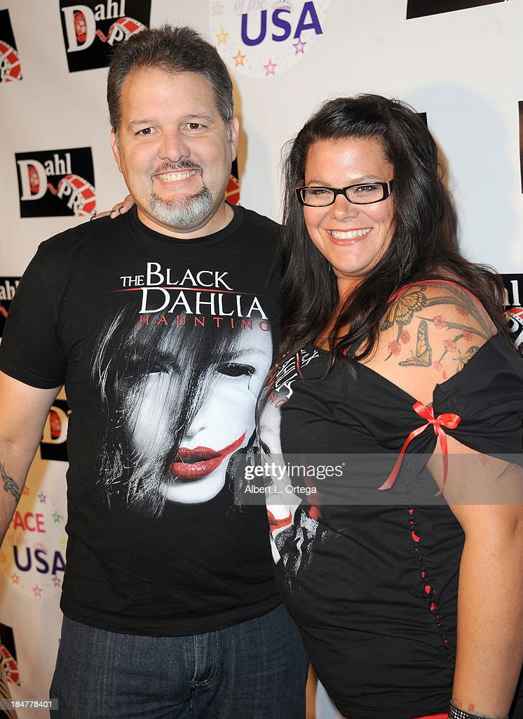 Actor Britt Griffith and wife Holly Griffith arrive for 'The Black Dahlia Haunting' DVD Release Party held at The Station Hollywood on October 15, 2013 in Hollywood, California.