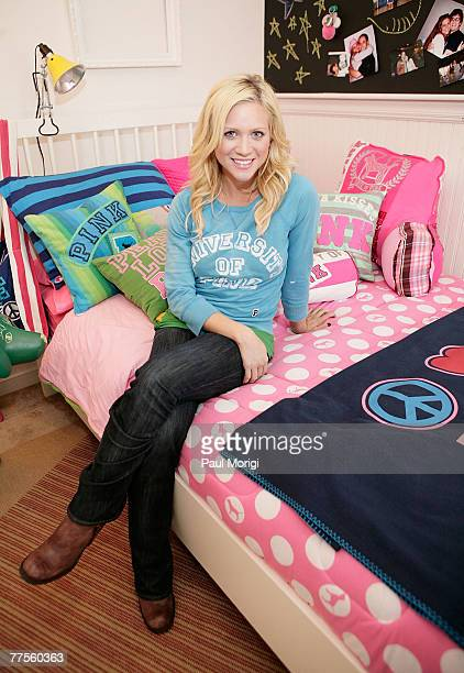 Actor Brittany Snow at the University of Maryland for the Victoria's Secret PINK My Pad contest on October 29 2007 in College Park MD